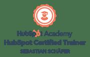 HubSpot Certified Trainer Badge grau