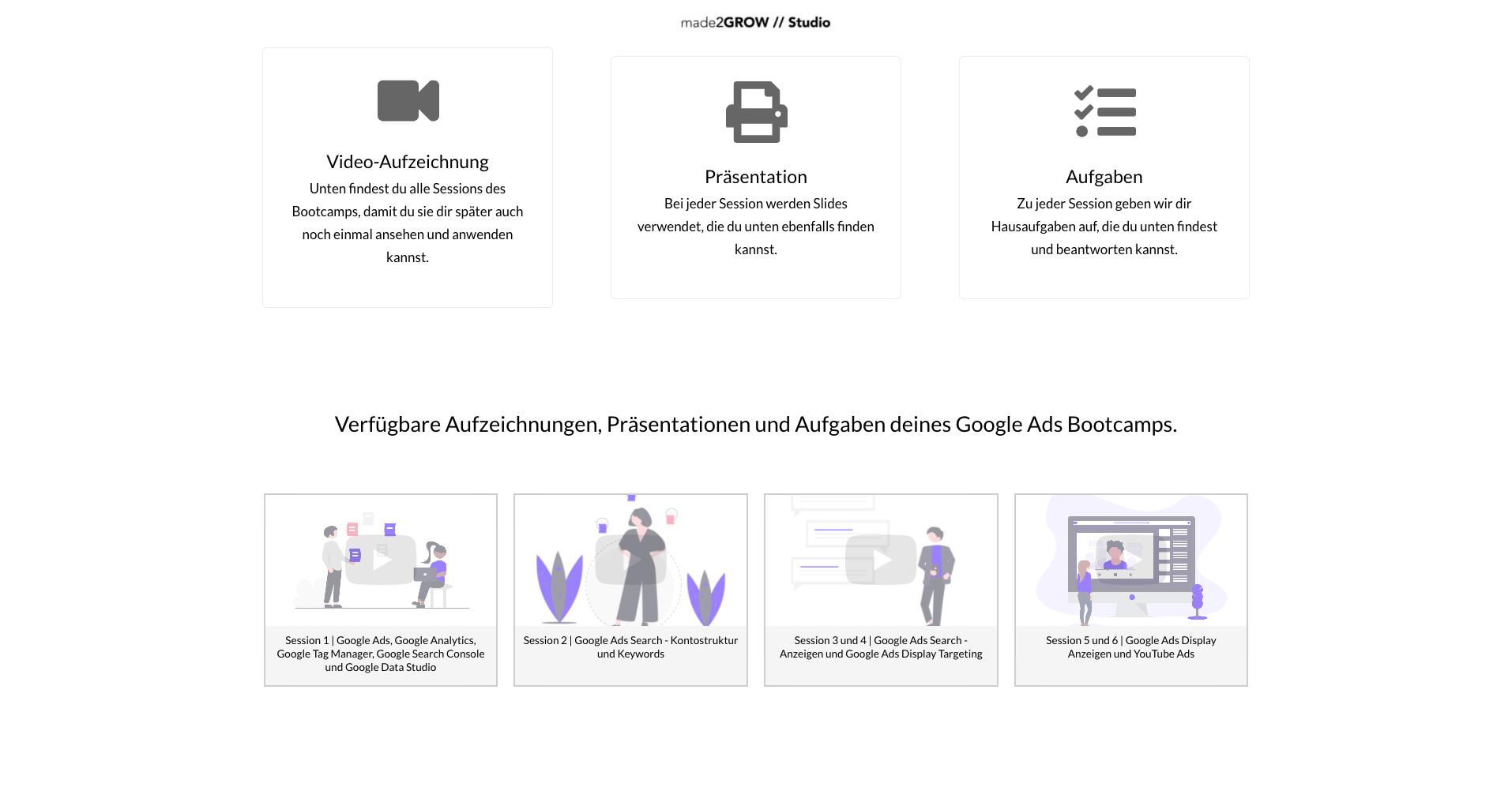Google Ads BootCamp - Dashboard Screenshot