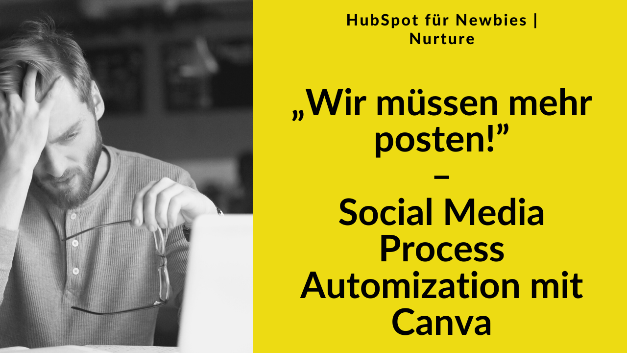 Lesson Cover HubSpot Workout Social Media und Canva